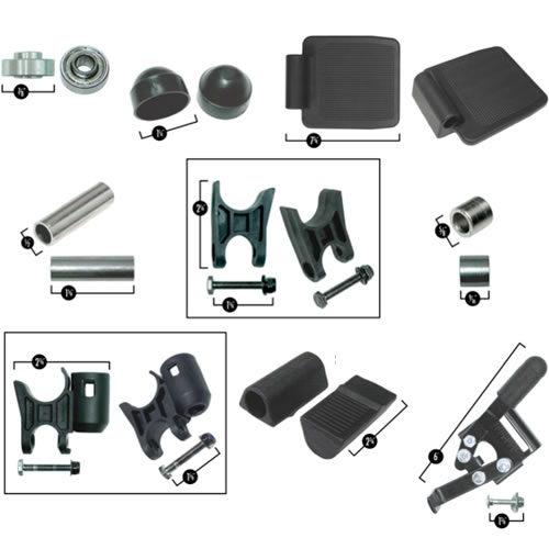 Various stair lift parts