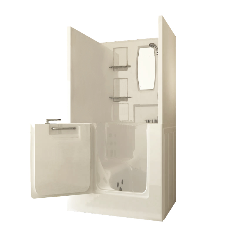 Small Shower Enclosure Sanctuary Walk-In Tub | Walk-In Bathtubs