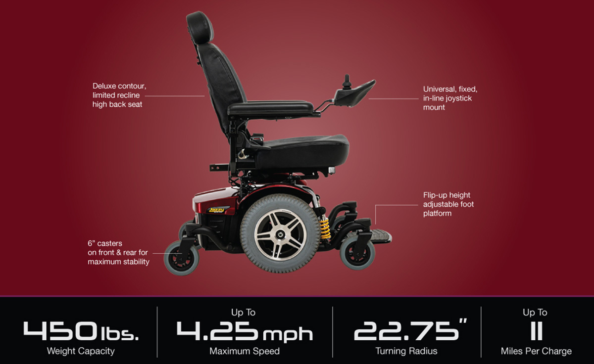 Pride Jazzy 1450 Jazzy Electric Wheelchairs