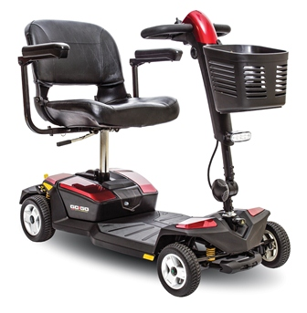 Pride Go-Go LX with CTS - 4 Wheel Travel Scooter